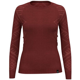 Odlo Natural + Kinship Bl L/S Top Crew Neck Women, baked apple melange